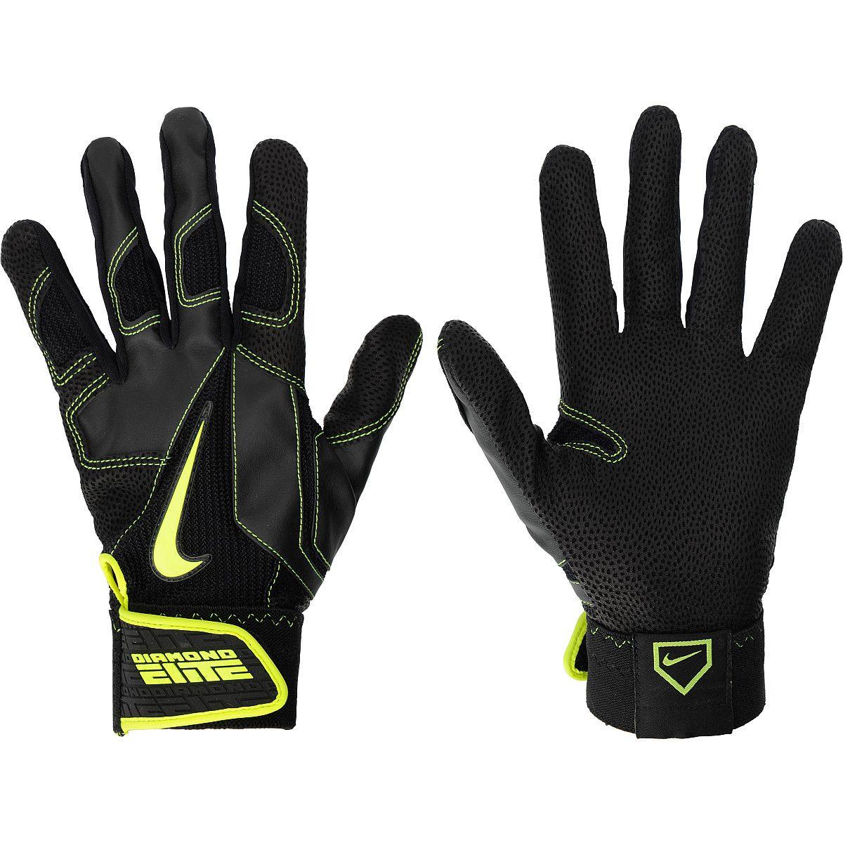 Black leather batting gloves - Nike Diamond Elite Pro Adult Baseball Batting Gloves Sportsauthority Com