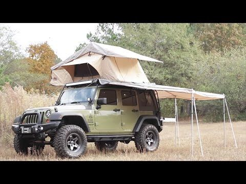 Jeep Wrangler With Arb Roof Top Tent And Aev Rack Mount Combo Plus