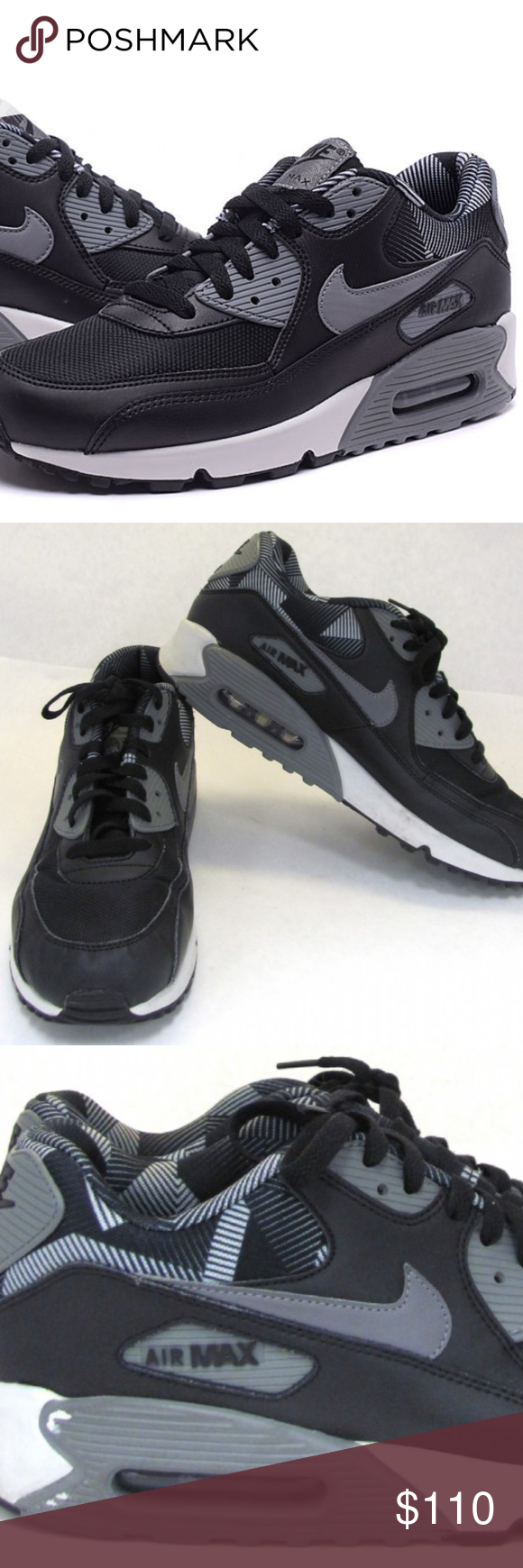 buy online 49816 77943 Nike Air Max 90 Sneakers Great preowned condition Nike Air Max 90 Print For Men  Black Cool Grey Pure Platinum Sneakers in size 10.5. Nike Shoes Sneakers
