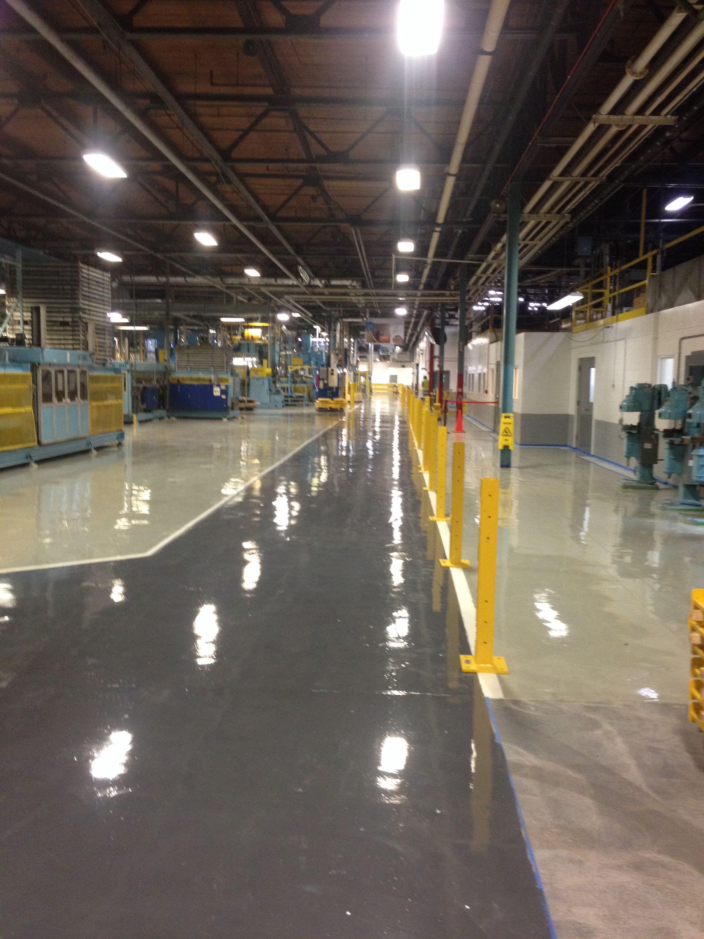 Industrial Neat Epoxy Resinous Floor By Elite Crete Systems Quartz Flooring Concrete Decor Interior And Exterior