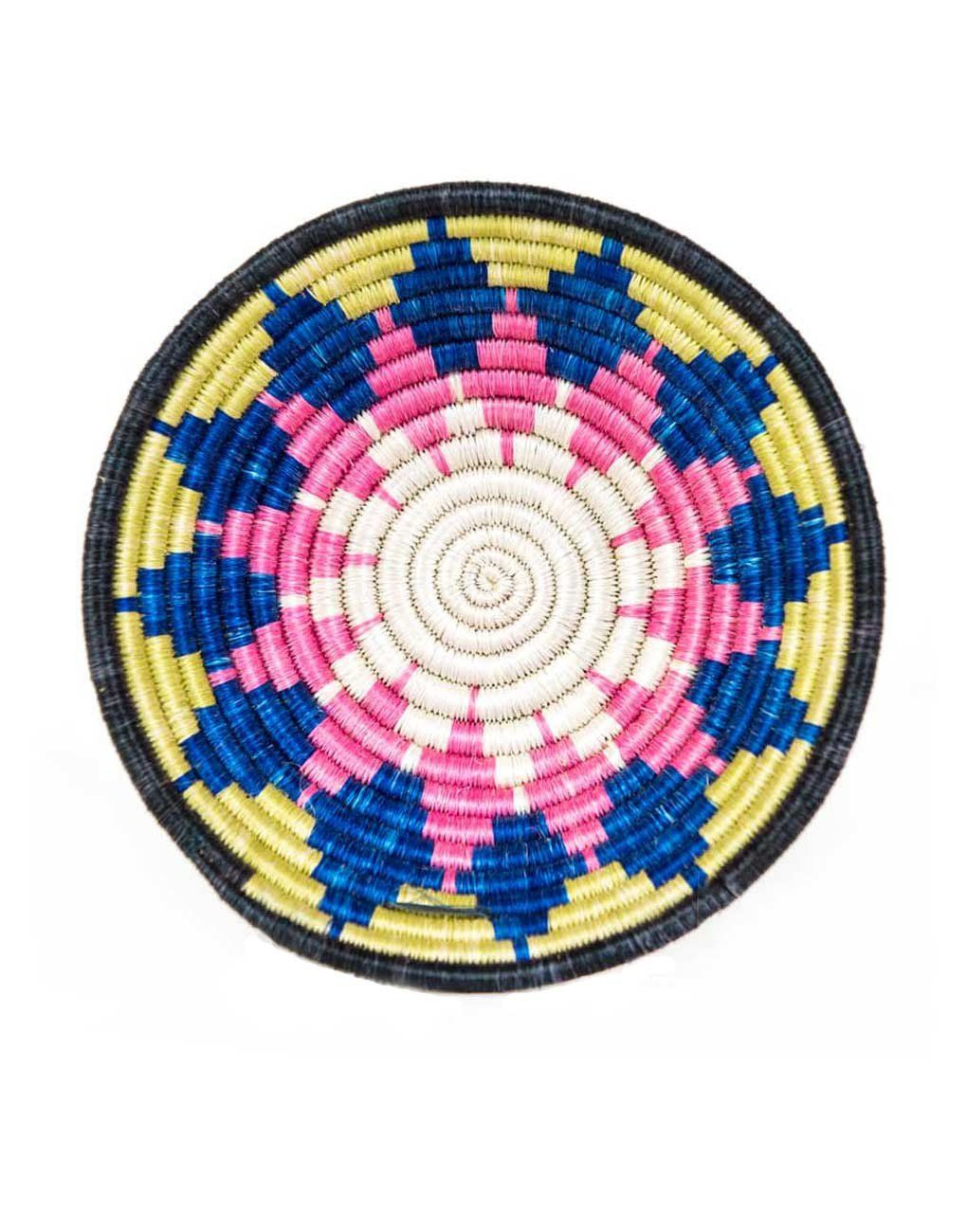 Fair Trade, Handwoven Pink, Yellow & Blue Fruit & Décor