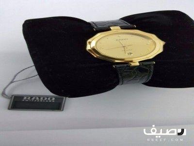 ساعه رادو سويسري أصلية لم تستخدم بعلبتها Leather Watch Leather Wearable