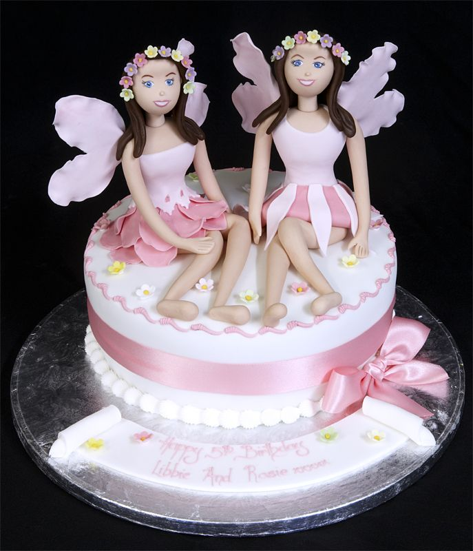 Cake Images For Twins : Pin by Christina on Twin Birthday Cakes Pinterest Girl ...