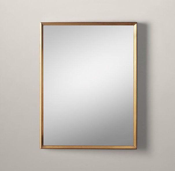 Front Bath Custom Metal Mirror Beveled Brass W Ant Glass 645 Final Sale 516 30 W X 40 H 49