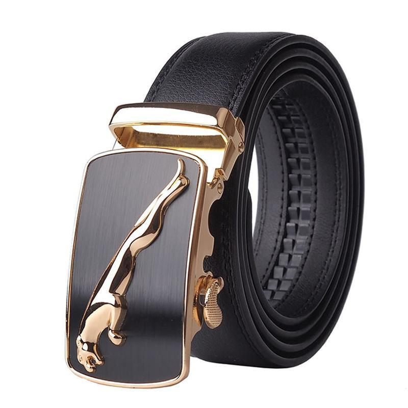 Automatic Buckle Cowhide Leather Men Belt in 2020 | Mens
