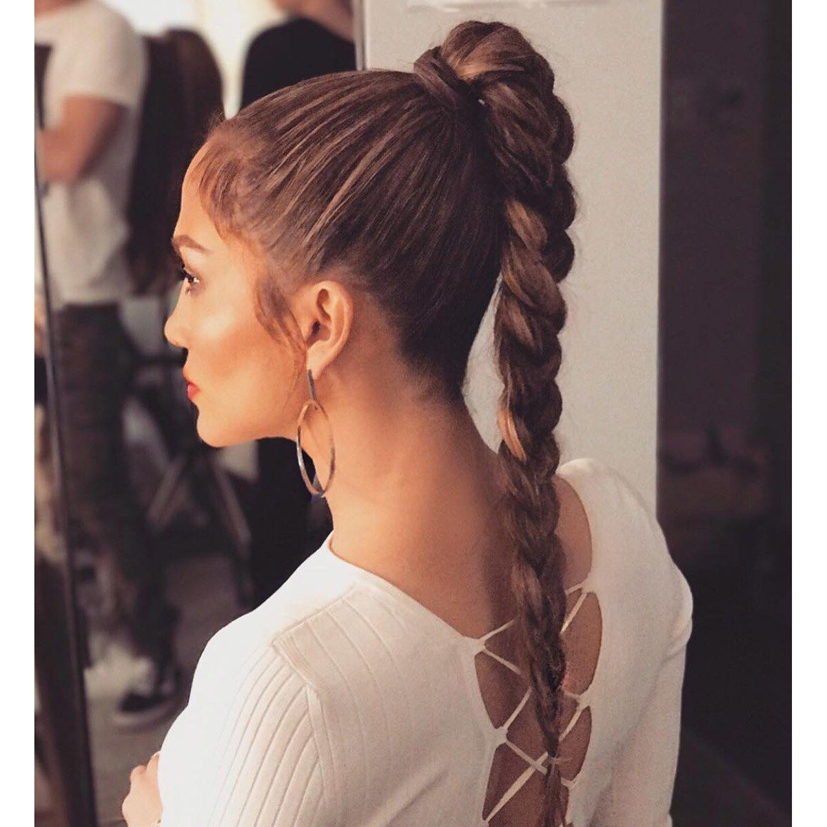 37 Fresh Ways To Wear A Ponytail This Summer High Ponytail Hairstyles Hair Styles Elegant Ponytail