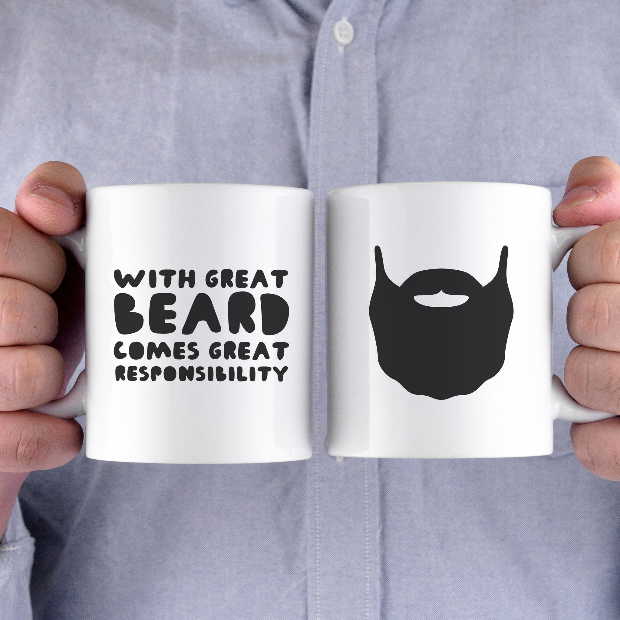 With Great Beard Comes Great Responsibility Funny Mug Gift