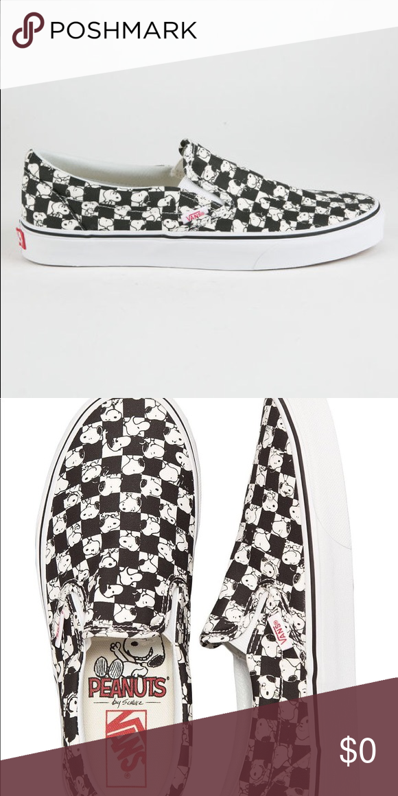 62bbe4f76f ISO Vans Snoopy checkerboard sneaker women s 9 In search of vans snoopy  checkerboard slip on sneakers. Preferably in a lightly used or new  condition in a ...