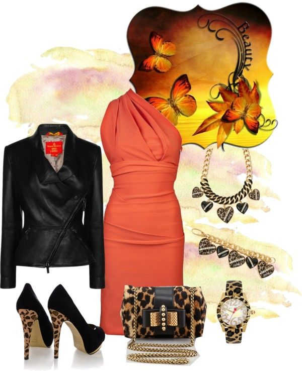 """leopard"" by simona-mari on Polyvore"