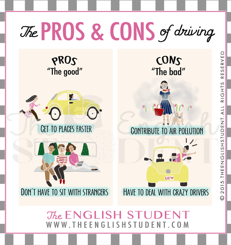 What are the pros and cons? www.theenglishstudent.com