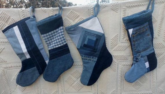 Hey, I found this really awesome Etsy listing at https://www.etsy.com/listing/116556330/blue-jean-christmas-stocking-upcycled