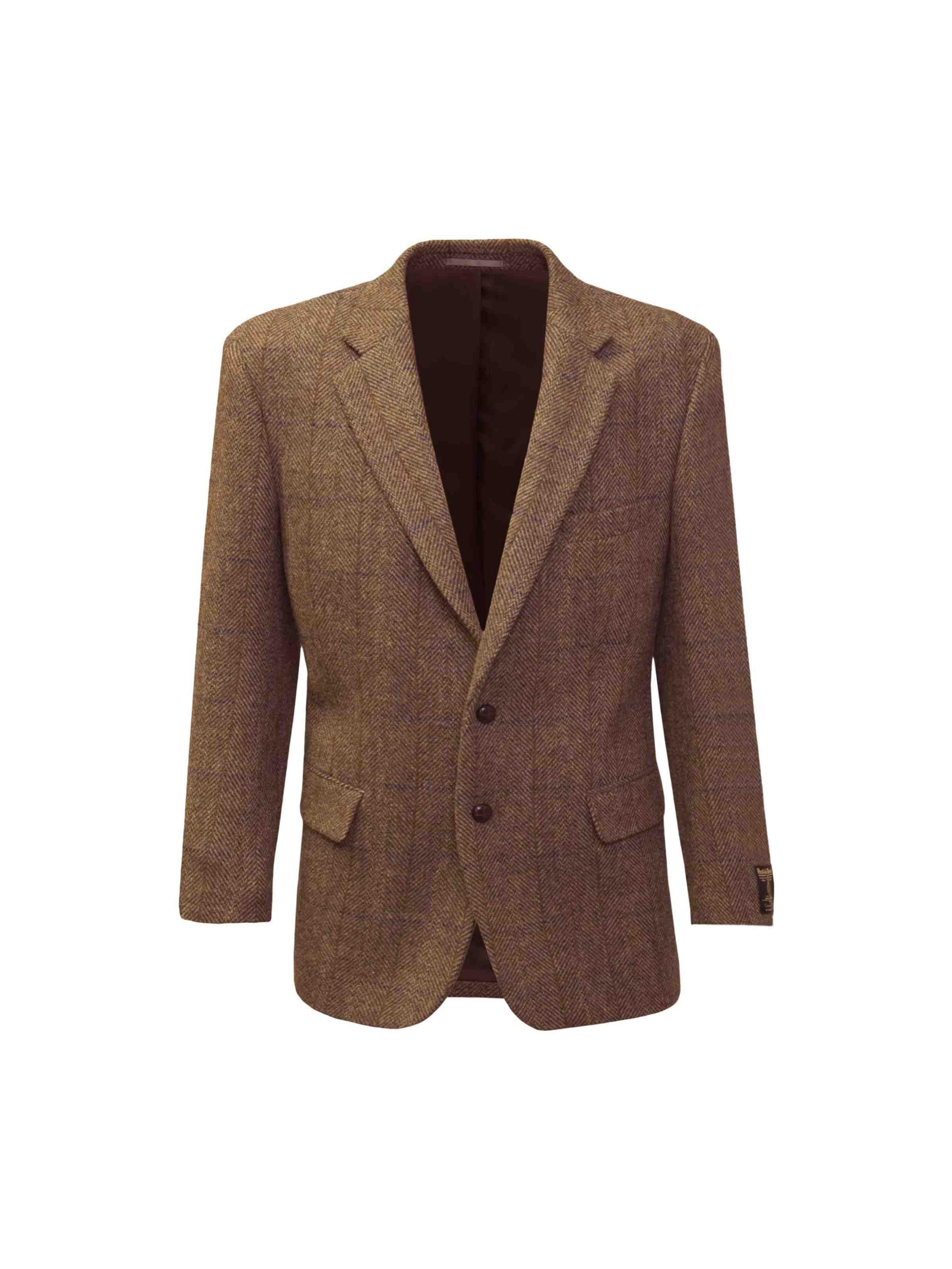 Harris Tweed Jacket Long - Mid Brown | The Edinburgh Woollen Mill