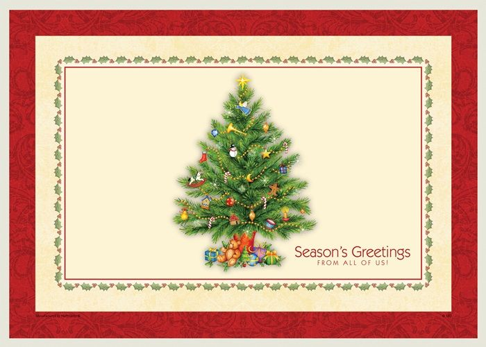 Splendid Tree Recycled Placemat Bulk 1 Pkg 1000 Pkgs Case Winter Entertaining Placemats Holiday Entertaining