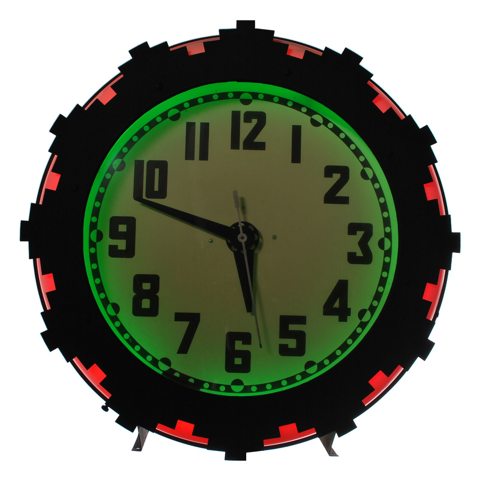 USA 19301940 This vintage Art Deco Neon Clock was called