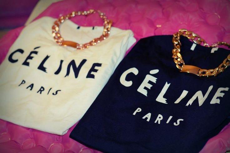 #celine #tee #black #white