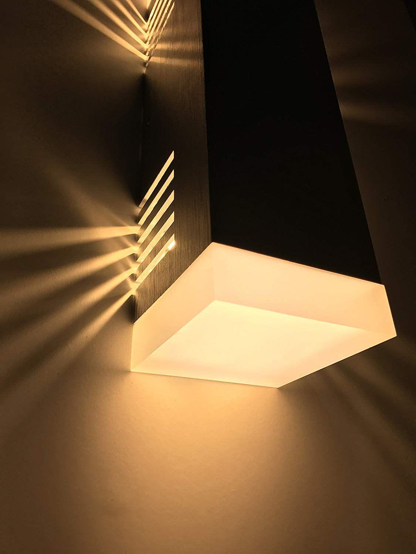 Spiceled Wandleuchte Shineled 14 2x7w Warmweiss Schatteneffekt High Power Led Wandlampe Dimmbar Amazon De Beleuchtung Luminaria De Madeira Madeira