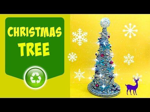 Paper rope technique: Christmas tree. Árbol de Navidad - YouTube