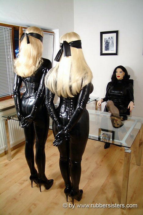 Girl rubber slave