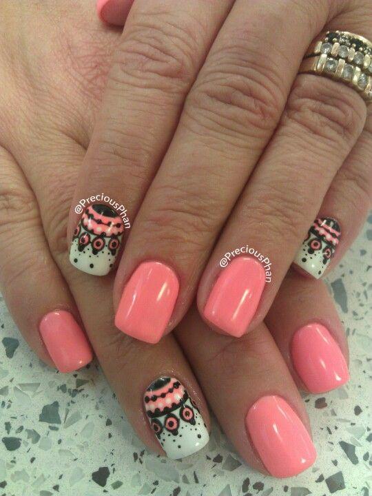 Coral. Nail art. No sticker. Nails Repin & Follow my pins for a - Coral. Nail Art. No Sticker. Nails Repin & Follow My Pins For A