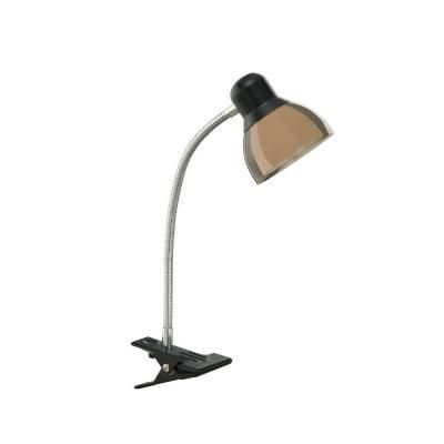 Hampton Bay 14 In Black Integrated Led Clip Lamp Af40167 The