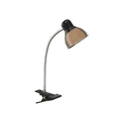 Hampton Bay 14 In Led Black Clip Lamp Af40167 The Home Depot Clip Lamp Lamp Gooseneck Floor Lamp