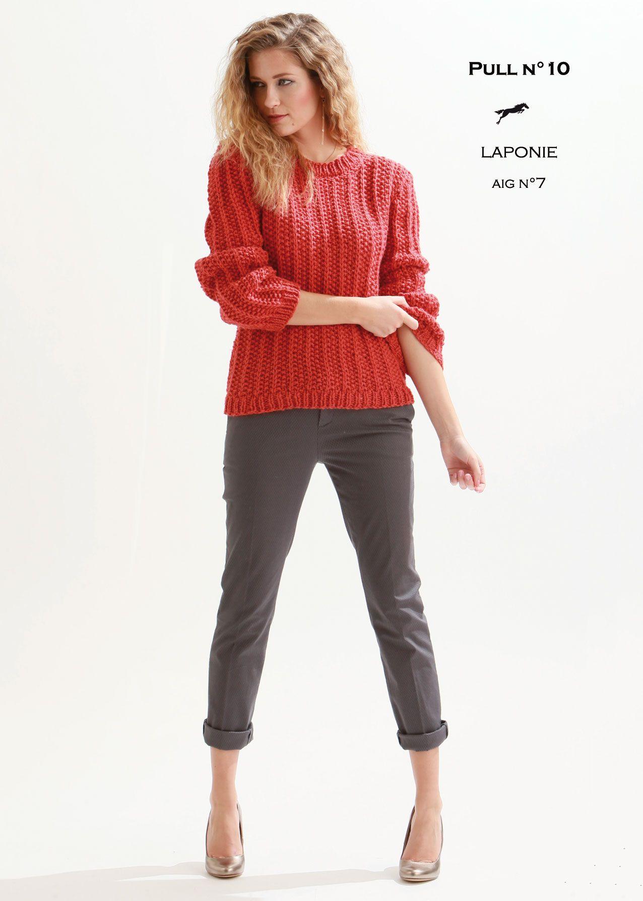 Modèle de tricot Pull femme Catalogue Cheval Blanc n