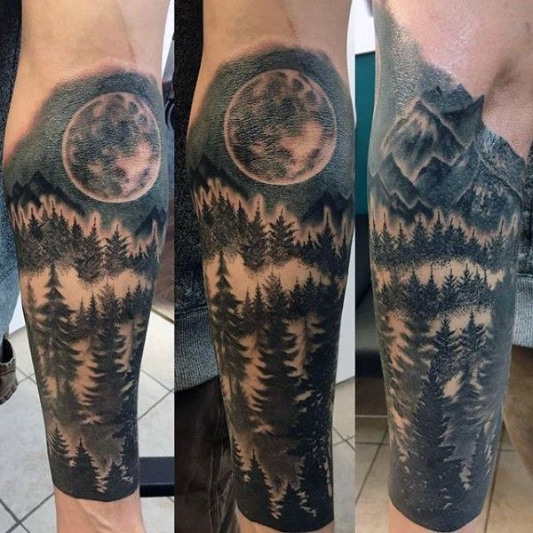 100 Forest Tattoo Designs For Men - Masculine Tree Ink Ideas ...