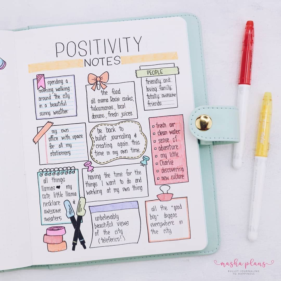Check out my Stationery themed monthly setup! This page is probably my favorite - it's a type of s gratitude log. Click to learn more about my Bullet Journal setup and this page in particular. #mashaplans #bulletjournal #stationery