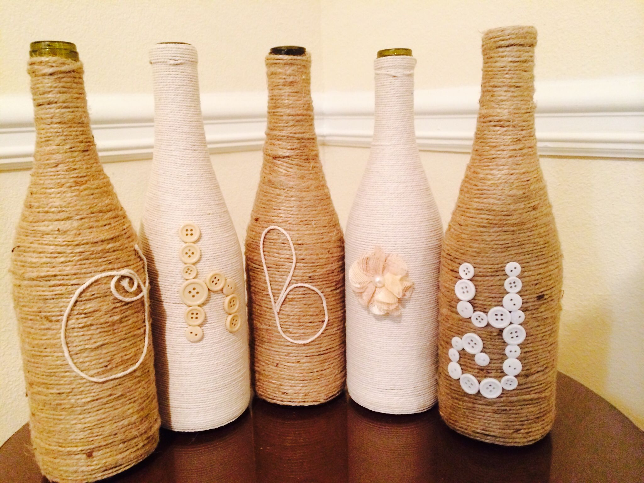 Surprising Up Cycled Wine Bottles As Centerpiece For Baby Shower Interior Design Ideas Tzicisoteloinfo