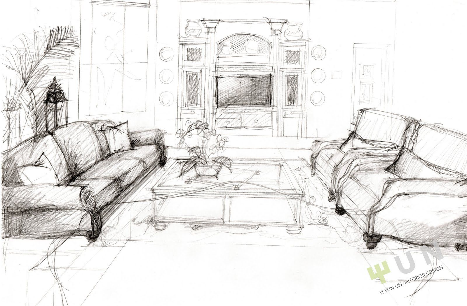 Floor Plan For The Family Room Design Sketch For The Family