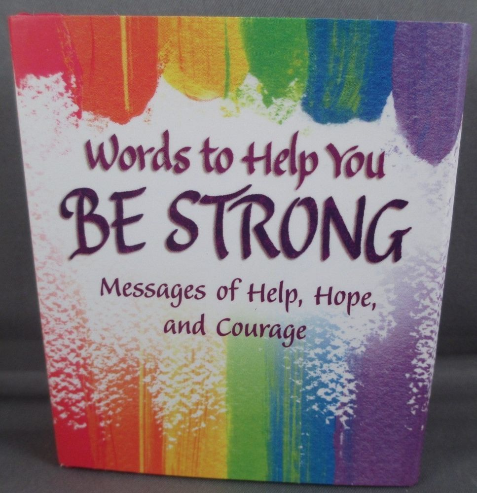 Blue mountain arts gift book words to help you be strong