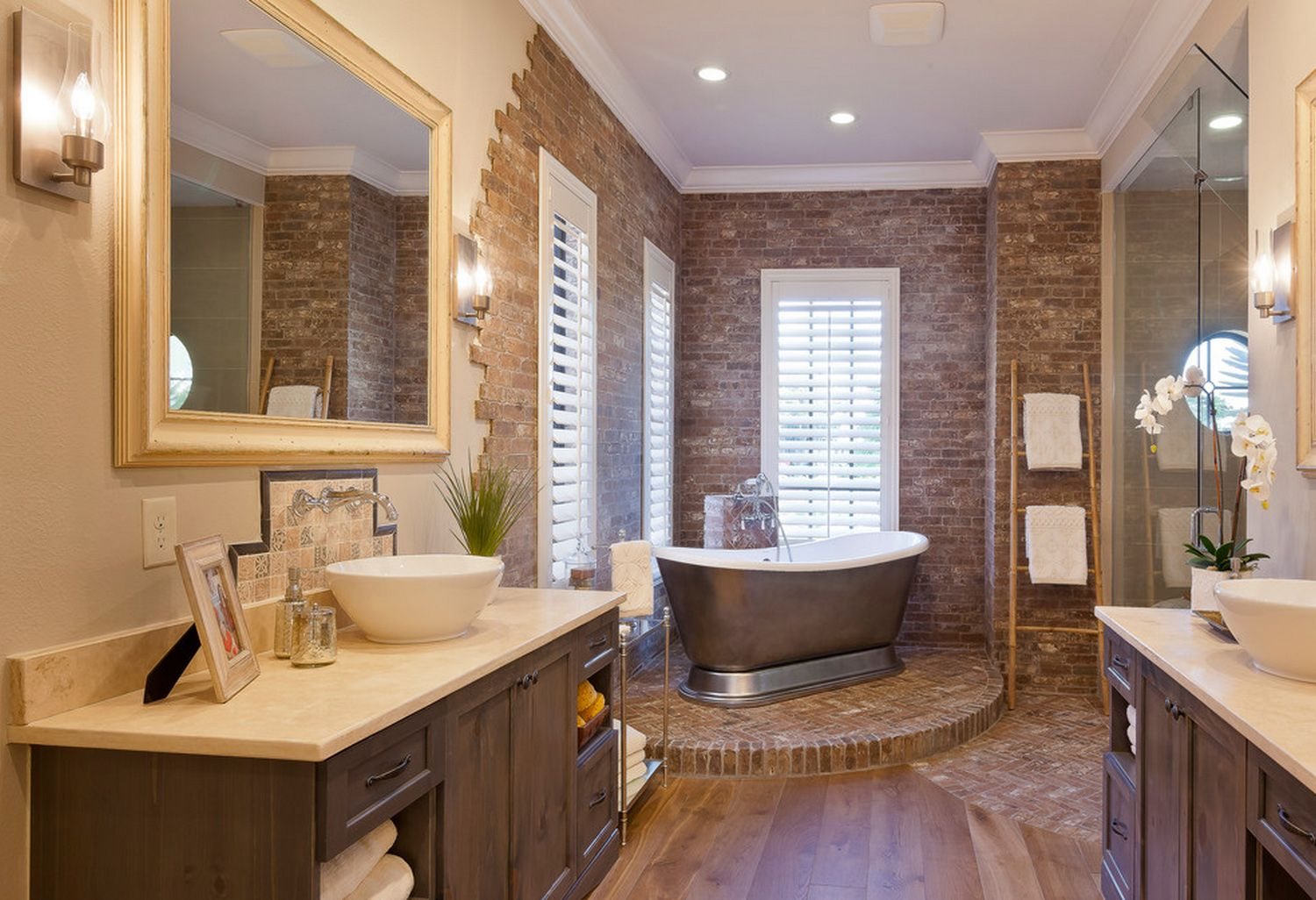 John Cannon home designed by Beasley & Henley Interior Design. #Design #Ideas Ways to decorate your luxury home. #Naples, FL #bathrooms