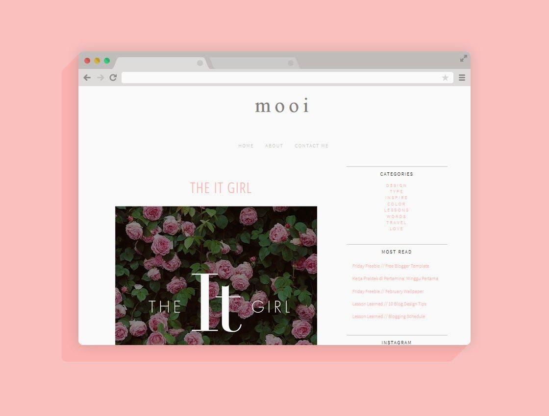 Mooi: Freebie: Blogger Template 2 | My Blog | Pinterest | Template ...