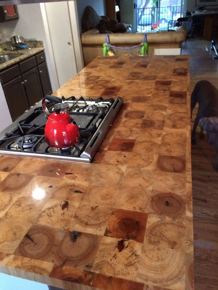 Diy End Grain Butcher Block Countertops Pictures Diy Butcher Block Countertops Butcher Block Countertops Diy Countertops