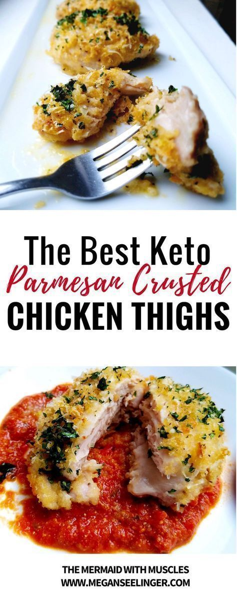 The Best Keto Parmesan Crusted Chicken Thighs images