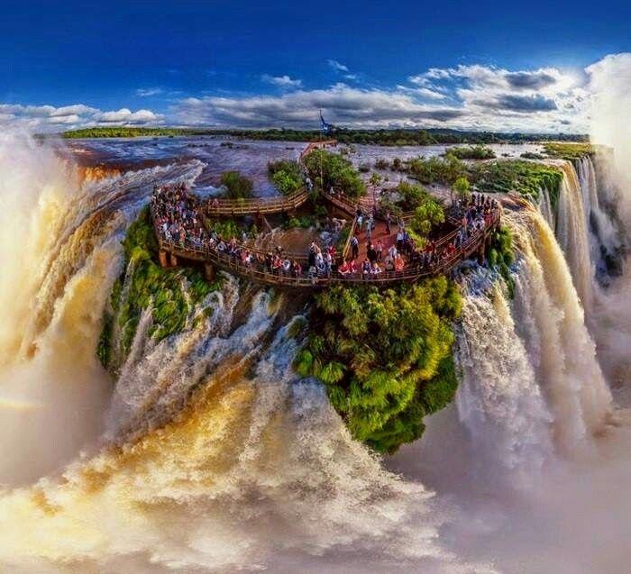 Iguazu Falls, Border Of Brazil And Argentina
