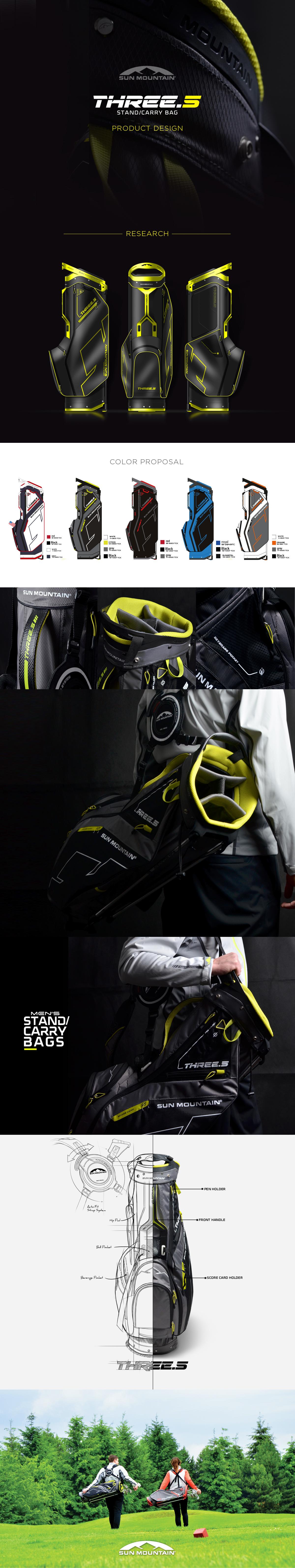 three 5 golf bag product design golf push cart. Black Bedroom Furniture Sets. Home Design Ideas