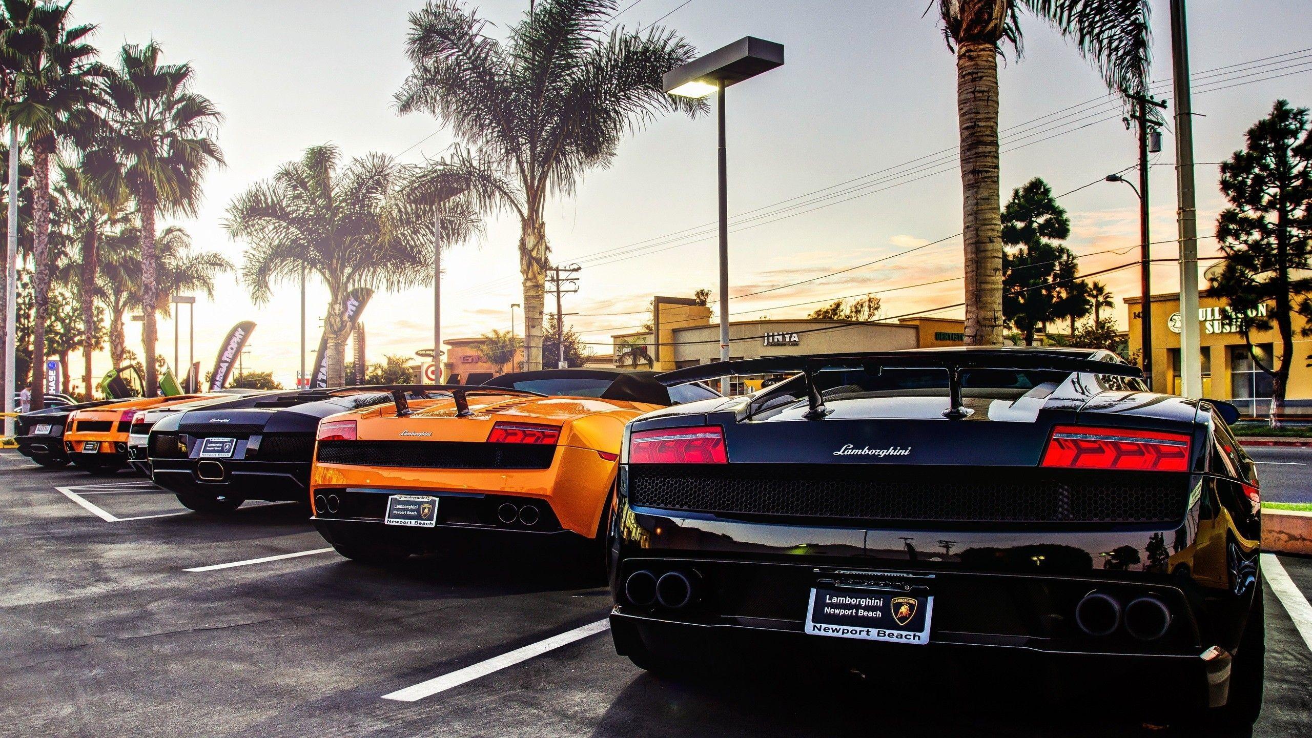 Lamborghini Cars At Newport Beach Hdwallpaperfx Lamborghini Cars