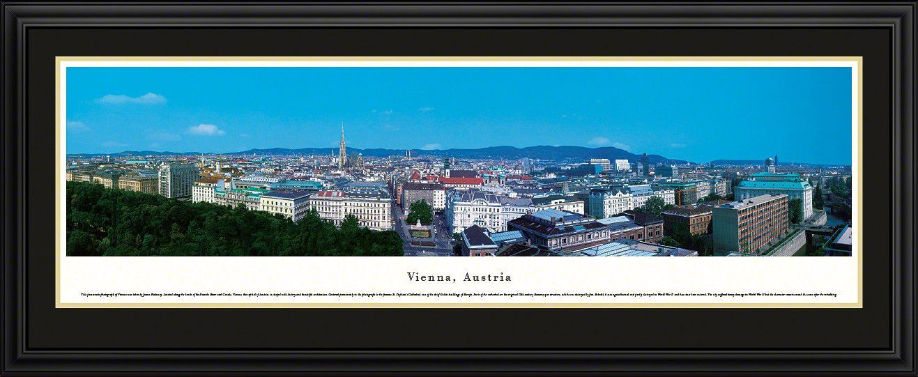 vienna skyline panoramic picture framed austria panoramic picture