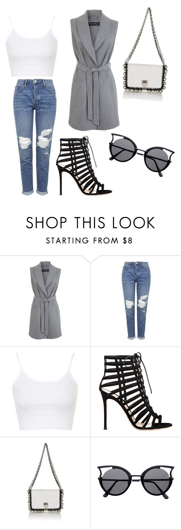 """Untitled #40"" by sexyvictoria77 ❤ liked on Polyvore featuring Miss Selfridge, Topshop, Gianvito Rossi and Proenza Schouler"