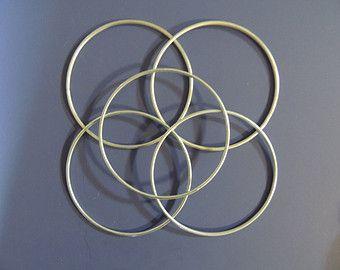 Dream Catcher Craft Supplies Metal Craft Hoops 40 inch Dream Catcher Hoops 40 count Silver Tone 11