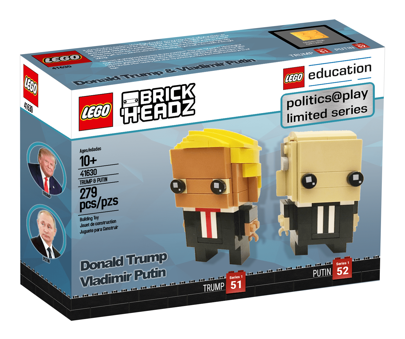 Lego Education Launches Brickheadz Series With 41630 Trump Putin Double Pack Fake News The Brothers Brick Lego Education Lego Lego Projects