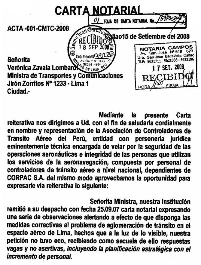 Modelo De Carta Notarial De Desalojo