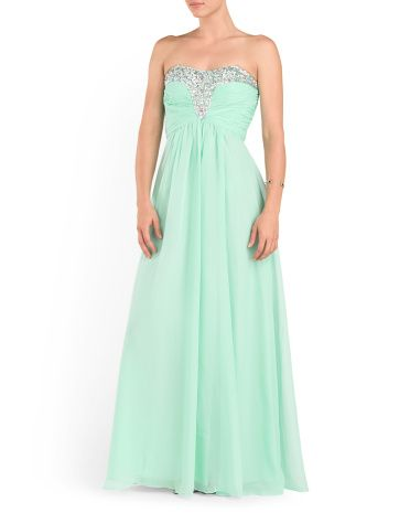 Strapless Beaded Dress Formal Tjmaxx Prom Dresses Prom