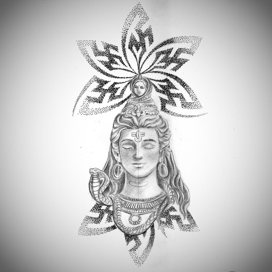 Drew this up for Sagar today. He wants a Lord Shiva that ...