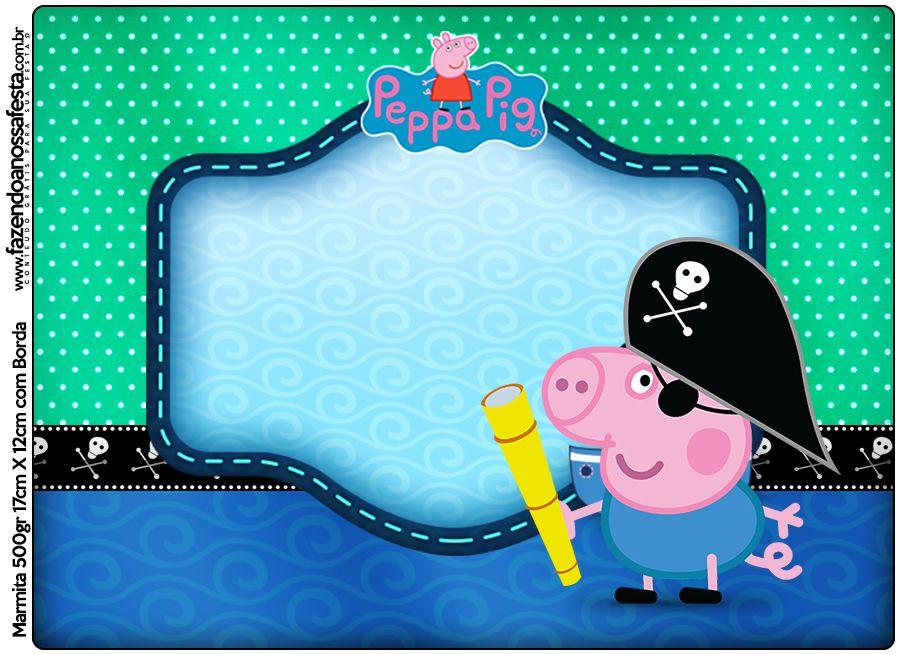 Marmita George Pig Pirata: