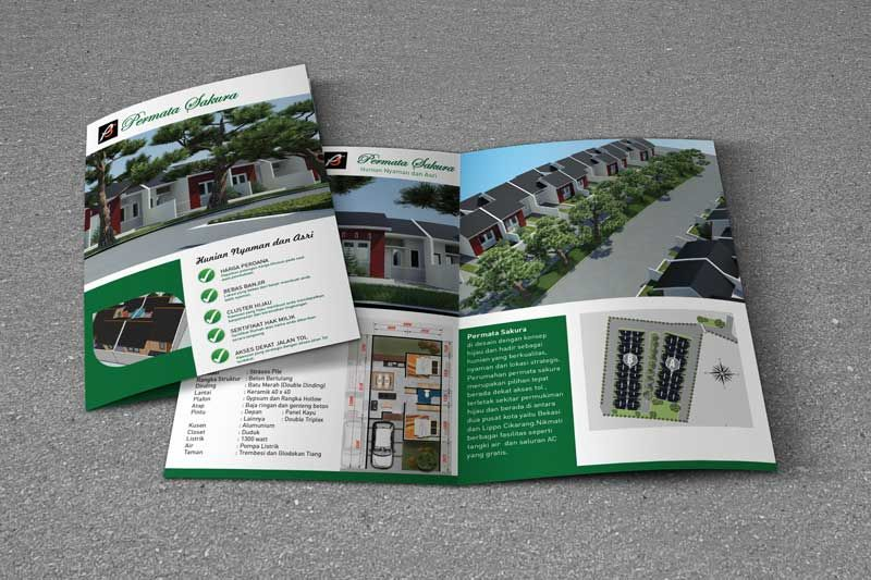 Desain Brosur Perumahan Permata Sakura oleh www.SimpleStudioOnline.com | Order desain brosur profesional >> WA : 0813-8650-8696