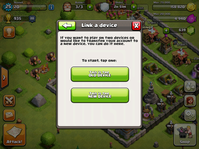 how do i sync my clash of clans to a new … - Apple Community