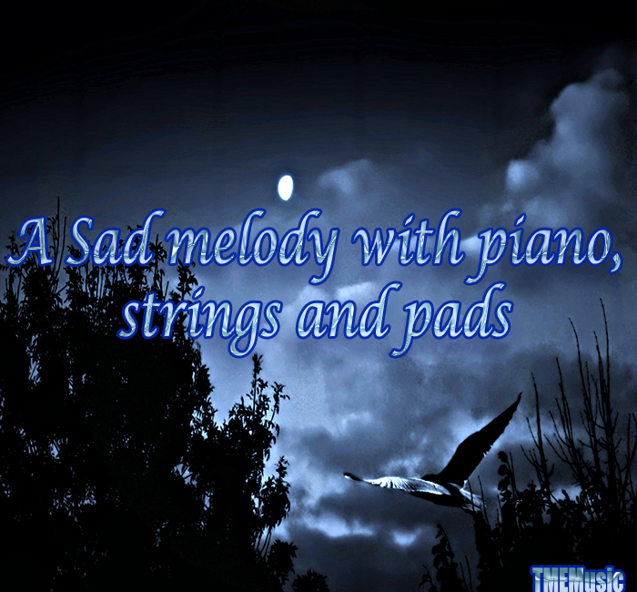A sad melody with piano, strings and pads   Royalty Free
