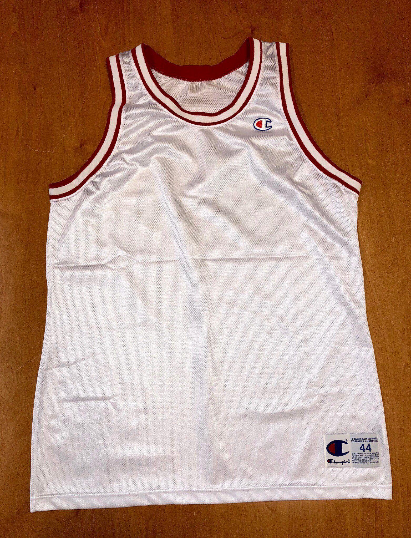 Vintage 1991 - 1998 Chicago Bulls Blank Champion Jersey Size 44 nba finals  hat shirt scottie pippen authentic michael jordan elton brand by ... 3b928b677